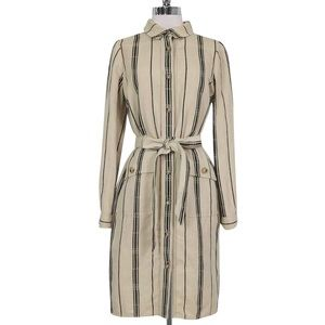 Striped Belted Tory Burch Dress